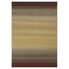 Generations Light Brown Abstract Area Rug