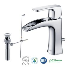 Carrion Single Handle Lead-Free Brass Bathroom Faucet with Pull Out Drain