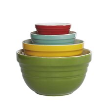 4 Piece Retro Multi Mixing Bowl Set