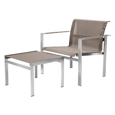 <strong>Sifas USA</strong> Ec-Inoks Lounge Chair and Ottoman