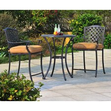 Largemont 3 Piece Bistro Set with Cushions