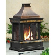 Brownston Steel Wood Outdoor Fireplace