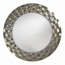 <strong>Howard Elliott</strong> Cartier Wall Mirror in Bright Silver Leaf