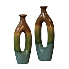 <strong>Howard Elliott</strong> 2 Piece Ceramic Vase Set
