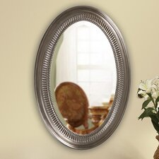 Ethan Oval Mirror in Brushed Nickel