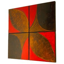 Wall Panels 4 Piece Graphic Art Plaque Set