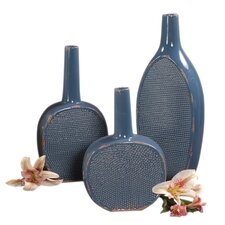 <strong>Howard Elliott</strong> 3 Piece Ceramic Bottle Vase Set