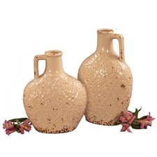 2 Piece Ceramic Pitcher Set