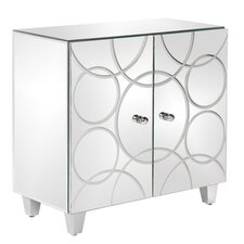 Mirrored 2-Door Cabinet