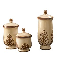 <strong>Howard Elliott</strong> 3 Piece Decorative Canister Set
