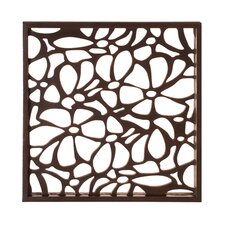 Stained Wall Art with Floral Cutwork
