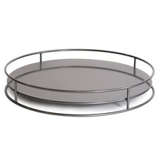 No Tip Cylinder Round Serving Tray