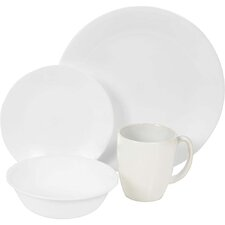 Livingware 16 Piece Dinnerware Set in White