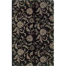 Pandora Black Floral Rug