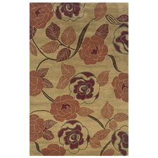 Pandora Light Gold Floral Rug