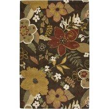Pandora Brun Floral Area Rug