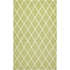 Hilary Light Green Lattice Area Rug