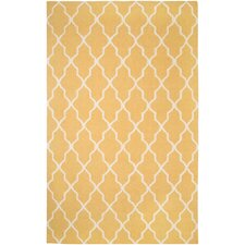 Swing Yellow Lattice Rug