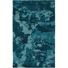 Highland Blue Abstract Area Rug