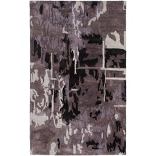 Highland Plum Abstract Area Rug