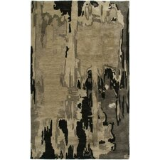 Highland Light Brown Abstract Area Rug