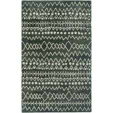 Highland Charcoal Striped Area Rug
