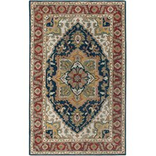 Camden Navy/Red Persian Rug