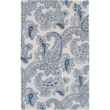 Ivory/Blue Floral Area Rug