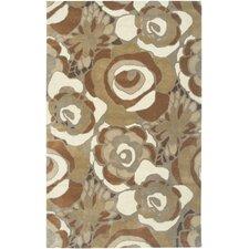 Floral Brown Rug