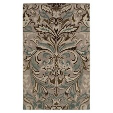 Light Gray Floral Area Rug