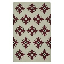 Swing Beige/Red Rug