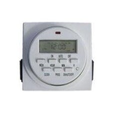 Dual Outlet Digital Timer in White
