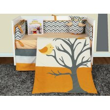 Nightie Night Owl 6 Piece Crib Bedding Collection with Storybook