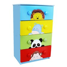 Sunny Safari 4 Drawer Cabinet with 8 Handles