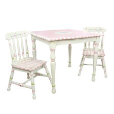 Bouquet 3 Piece Table and Chair Set