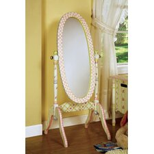 "48"" H x 19"" W Crackled Rose Standing Mirror"