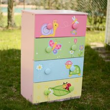 Magic Garden 4 Drawer Cabinet with 8 Handles