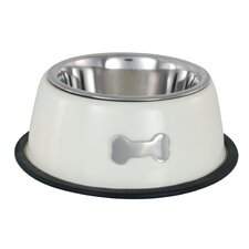 Single Dog Bowl in Cream