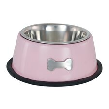 Single Dog Bowl in Pink