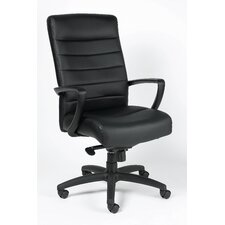 Manchester High-Back Leather Executive Chair with Arms