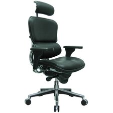 Ergohuman High-Back Leather Manager Chair with Arms