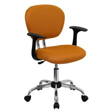 Mid-Back Office Chair in Tangerine