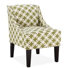 Fretwork Slipper Chair in Green