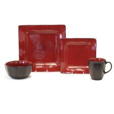 Squared 16 Piece Dinnerware Set