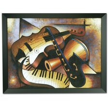 'Music' Framed Original Painting on Canvas