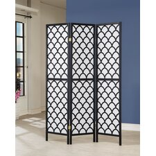 "70"" x 52"" 3 Panel Room Divider"