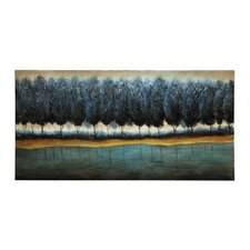 Tranquil Blue Forest Original Painting