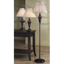 Athens 3 Piece Table Lamp Set with Empire Shade