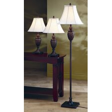 3 Piece Table Lamp Set with Bell Shade