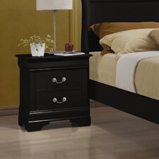 Carbon 2 Drawer Nightstand